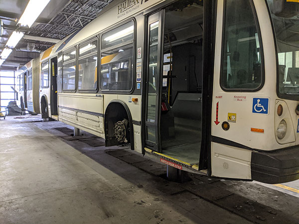 Inside a Halifax Transit bus